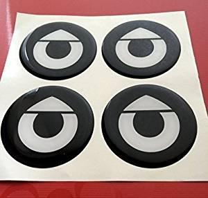 Smart ★4 Stück★ 60mm Aufkleber Emblem für Felgen Nabendeckel Radkappen