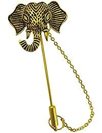 Ammvi Creations Royal Elephant Brooch Lapel Pin For Men