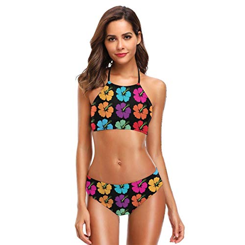 Surfing Avocado with Glasses Bikini Swimsuit for Women Two Pieces Bathing Suit Swimwear Set -