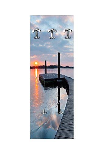Appendiabiti da parete 49x139 cm pontile sul lago