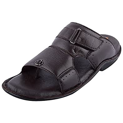 LAMBA Men's Casual Genuine Leather Slippers