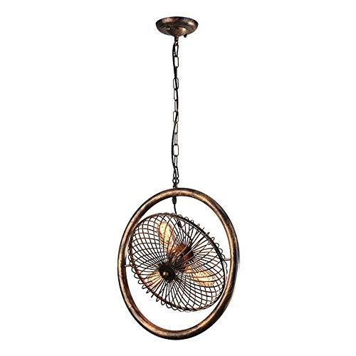 Bronze Flush Mount Decke Licht (XHJJDJ Vintage Industrial Retro Deckenleuchter Licht, 3 Lichter in der Nähe der Decke Semi Flush Mount Öl eingerieben Bronze Leuchten Metallkäfig Stil rustikale Pendelleuchte (Rostfarbe))