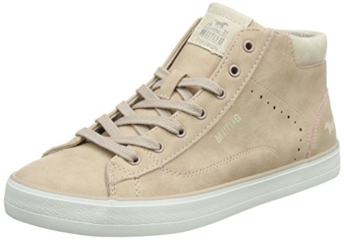 MUSTANG Damen 1267-501-555 Hohe Sneaker, Rot (Rose 555), 40 EU