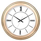 MingXinJia Relojes de Pared Relojes de Exterior Living Room Circular Creativa Novela Reloj Mute Reloj Electrónico de Cuarzo, d