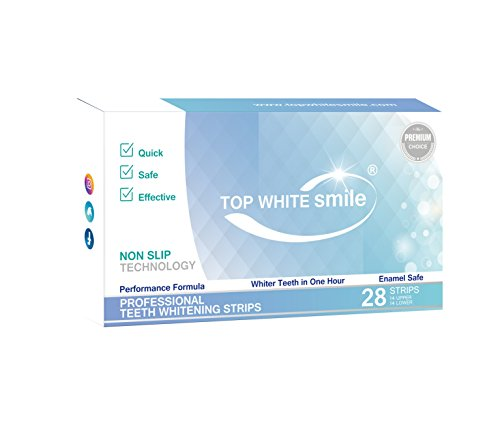 TOP WHITE SMILE PREMIUM CHOICE Bleaching-Stripes zur Zahnaufhellung TEETH WHITENING STRIPS