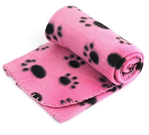 Wolle-Decke für Katzen-Hund, reizendes Entwurfs-Tatzen-Druckwarme weiche Vlies-Mat-Bett-Decke Sofa für Haustier-Welpen
