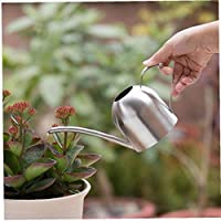 Angoter Stainless Steel Watering Pot Gardening Potted Small Watering Can Indoor Bonsai Long Spout Watering Flower Kettle 450ml