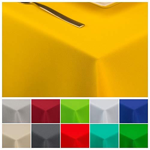 Tischläufer Tischtuch Tischwäsche Tischdekoration Tafeltuch (Gelb, 120 x 160 cm) ()