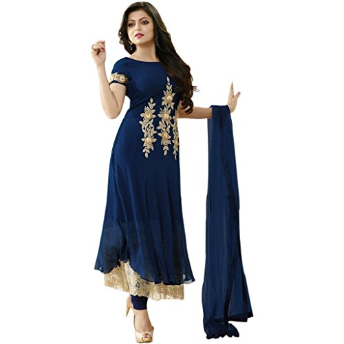 Ethnic Empire Designer Blue georgette Embroidery Bollywood Suits