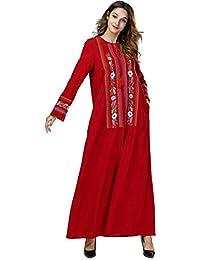 Acqrobe Robes de Caftan Musulmanes - Robe Maxi de Broderie élégante Dubaï  Islamique Abaya Jilbab Turque f41b781809b