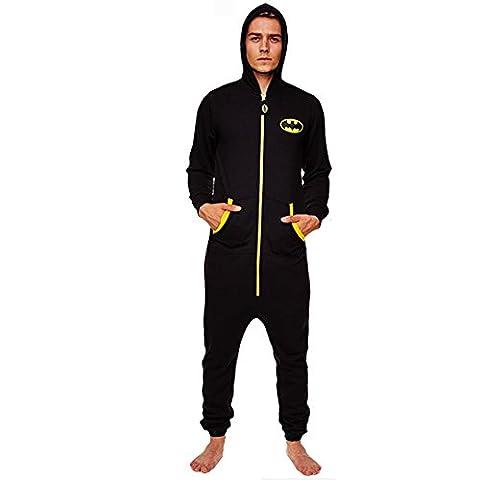 Robe Factory - Batman combinaison à capuche Black Logo - Noir - Taille L