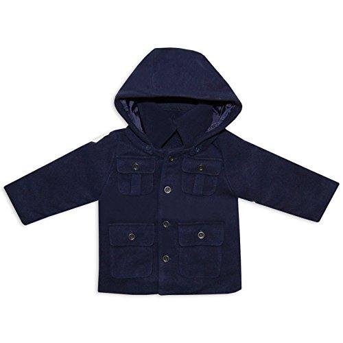Bambini Designer stile Duffle Coat giacca invernale misto LANA in