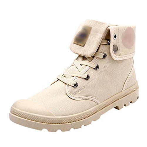 Sentao uomo comfort vintage stivali indossare resistente stivali da combattimento scarpe antiscivolo stivaletti da uomo
