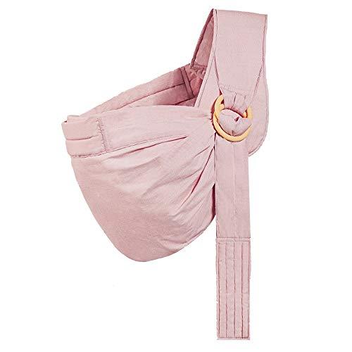 YUMEIGE Portabebés Portabebés, algodón, Portabebes, con Hebilla, Marsupios portabebé ergonómico Edad 0-36 Meses 4 Colores (Color : Pink)