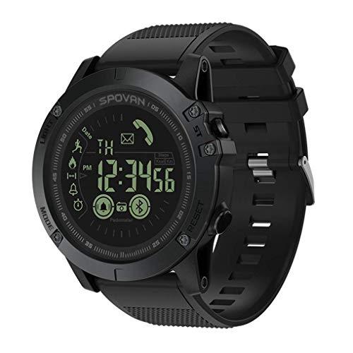 M&T Haoqing Sport Smartwatch Smart Watch stilvolle Training Telefon Jungen multifunktionale digitale Sport Outdoor Kalorien Zähler und Informationen Erinnerung für Android und IOS Smartphone (schwarz)