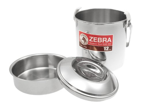 ZEBRA Bushcraft Cooking Pot - Billy Can -, stainless steel, with insert - 12cm, 1.25ltr, 1 person