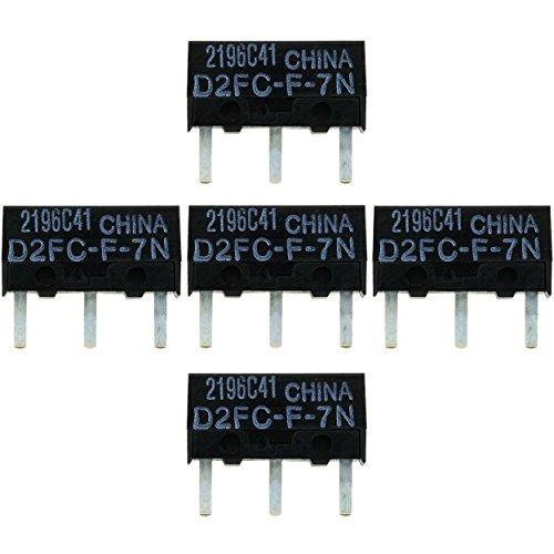 5x OMRON D2FC-F-7N Mikroschalter Reparatur-Satz / Repair-Kit passend für Mäuse von Logitech,...