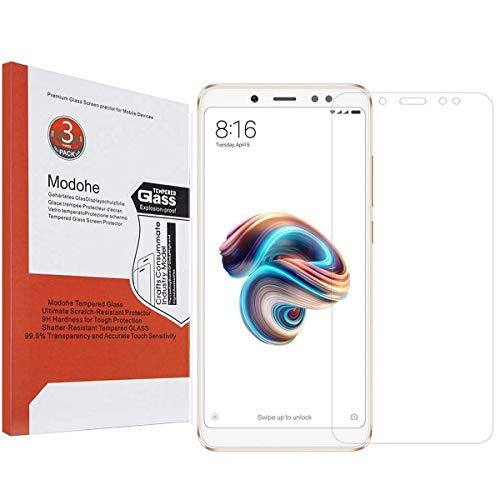 Modohe [3 Piezas] Protector Pantalla para Xiaomi Redmi Note 5, Protector de Pantalla de Vidrio Templado de 0.26mm [9H Dureza] para Xiaomi Redmi Note 5