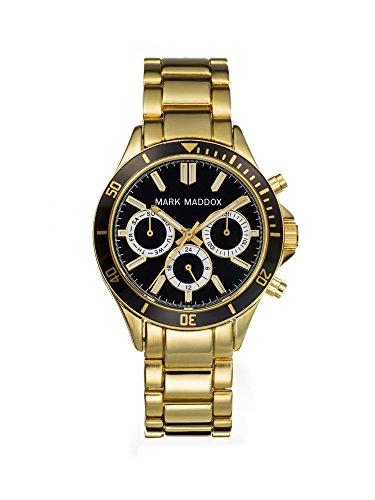 Mark Maddox MM3016-57 - Reloj de cuarzo para mujer, correa de otros materiales color dorado