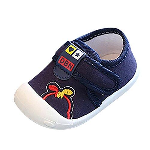 SOMESUN Fashion Baby Jungen Mädchen Krippe Schuhe Kinder Niedlich Weich Segeltuch Leicht Atmungsaktiv Rutschfest Beiläufig Freizeit Strand Turnschuhe (EU19, Dunkelblau) (Nike-krippe Schuhe)