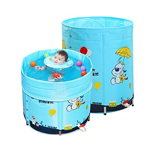 TXDY Schwimmbad für Kinder, Faltbad Badewanne Big Pond Pool, Baby Isolierung Schwimmen Eimer Bad Fass Sommer Spaß Schwimmen Spielzeug - Blau (Badewanne Big Baby)