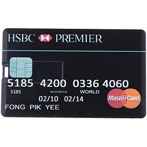 seguryy tarjeta de Crédito Modelo Memory Stick USB 2.0memoria flash stick pen drive 8gb unidad flash USB