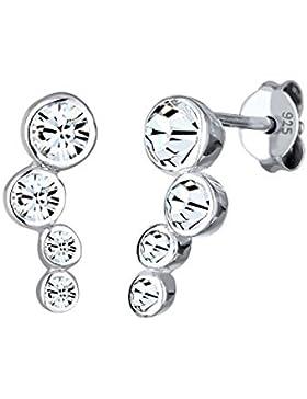 Elli Damen-Ohrstecker 925 Silber  Rundschliff Swarovski Kristalle