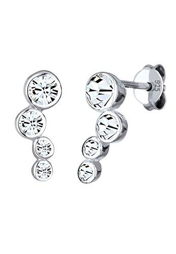 Elli Damen Ohrstecker mit Swarovski Kristallen Kreis in 925 Sterling Silber (Swarovski-kristall-ohrringe Ohrstecker)