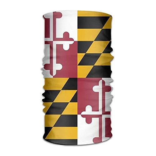 Nynelsong Flag of Maryland Headwear Hats Elastic Head Wrap Scarf Hair Band Caps