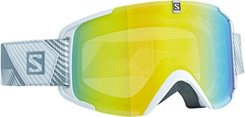 Salomon Xview - Gafas de esquí, color blanco (lowlight light yellow)