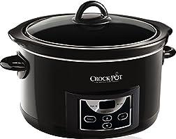 Crock-pot 4.7l Gloss Black Digital Countdown Slow Cooker