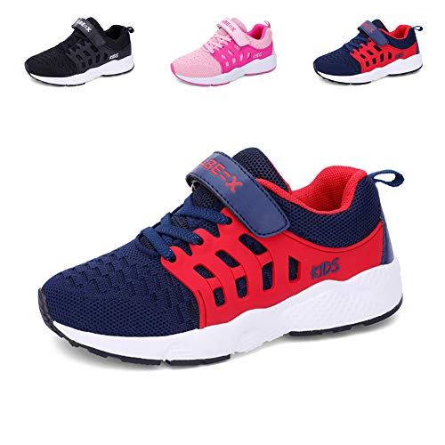 Ragazzi Scarpe da Corsa Scarpe da Ginnastica per Ragazze Scarpe Sportive per Bambini Sneakers Formatori Blu 35 EU