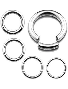 SE11/Piercing-dreams Segmentring 1,6 x 8 mm Chirurgenstahl - Smooth Closure Ring