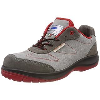 Aboutblu 1930102la _ 37Sparrow Low Grey-Red S3Work Shoe, Size 37, Grey/Red
