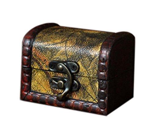 jaune créative caisson à bijoux en bois de cas cosmétique