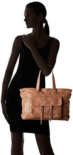 PIECES Damen Pcmusta Leather Bag Schultertasche, 13 x 29 x 38 cm Braun (Nature)