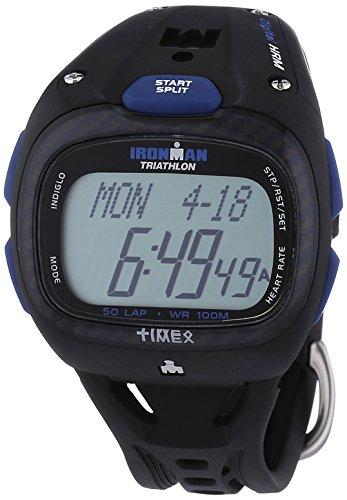 Timex T5K489 – Reloj (cuarzo, digital) con cronómetro, alarma, correa de caucho color negro