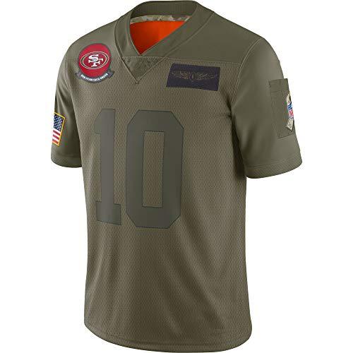 Jimmy Garoppolo San Francisco 49ers #10 Jersey Basketball Trikot für Herren Retro Gym Weste Sport T-Shirt,L