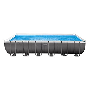 Intex Ultra Frame Piscina Desmontable, 26423 litros, Gris, 549x549x132 cm