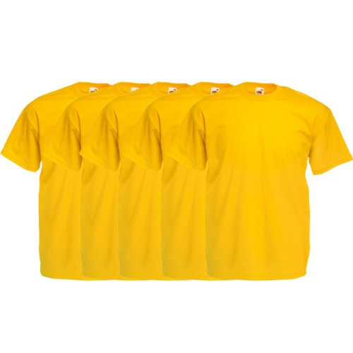 Fruit of the Loom Original Valueweight T Rundhals T-Shirt F140 5er 10er 15er 20er Pack 5x sunflower