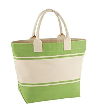 Quadra Canvas Deck Bag (24 Litres) (One Size) (Kiwi/Natural)