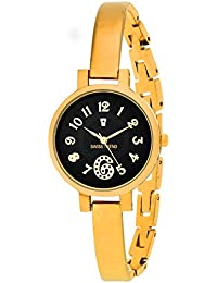 Swiss Trend Black Dial Golden Bracelet Women's Watch