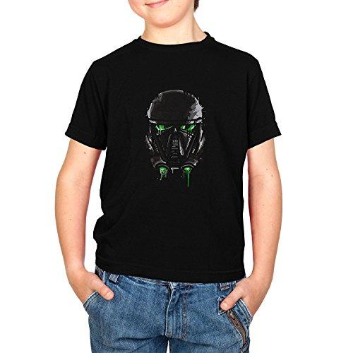 Texlab Empire Pilot Helmet Painting - Kinder T-Shirt, Größe M, Schwarz (Empire Pilot Episode)