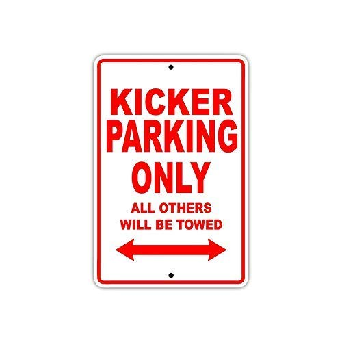 Fluse Kicker Football Player Parking Only Vintage Metal Art Chic Retro Blechschild 8 x 12 Zoll Metallschilder