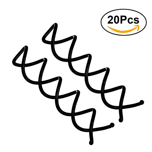 Frcolor 20pcs Spiral Bobby Hair Pins Twist Screw Hair Clip Mini Spin Clip for DIY Hair Style (Black) -