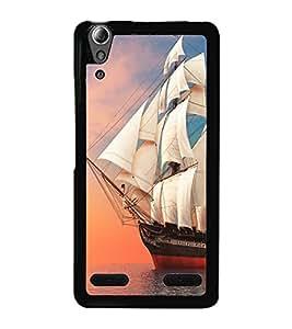Ship in the Sea 2D Hard Polycarbonate Designer Back Case Cover for Lenovo A6000 Plus :: Lenovo A6000+ :: Lenovo A6000