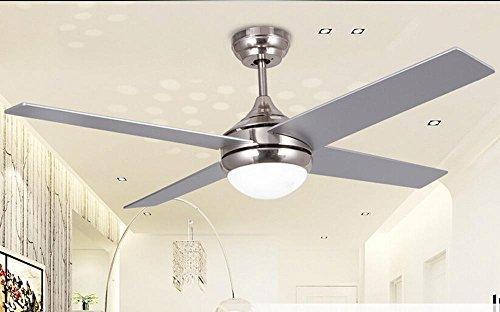 SSBY Stile minimalista ventilatore plafoniere, lampadario di ventilatore di soggiorno sala da pranzo ventilatore Lampadario in ferro battuto creativo foglia