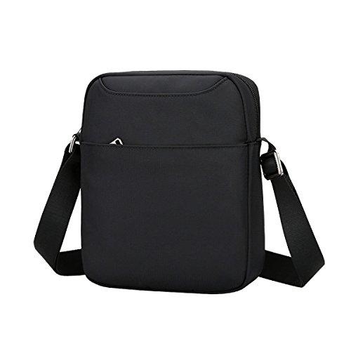 Messenger Bag Maschile Yy.f Di Multi-funzionale Pacchetto Di Cross-femmina Di Marea Casuali Borse Sportive Borse A Tracolla Mini Bag Colore Solido 3 Colori Black