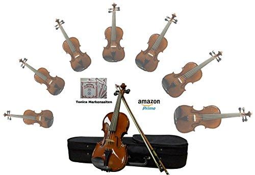 Sinfonie24 Geige/ Violine aus Hamburger Geigenbau Manufaktur (Basic II) - inkl. Markensaiten (4/4) Versand durch Amazon