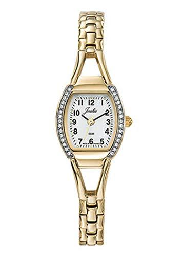 Joalia H630M505 - Orologio da donna con cinturino dorato, quadrante bianco e strass